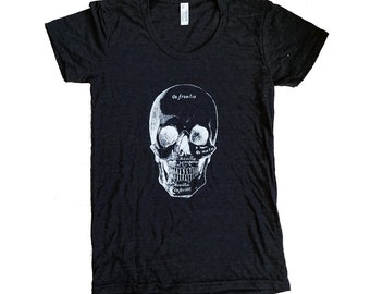 Womens Anatomical Skull Shirt - (Available in sizes S, M, L, XL, 2XL)