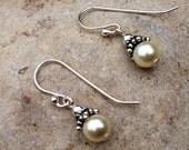 Teacher Gift Perfect Pair Pearl Earrings-Custom Swarovski Pearl Sterling Silver Earrings- Wedding, Gift for Friend