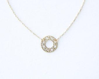 Round Cut Gem Pendant Necklace | Item No. ATL-N-106