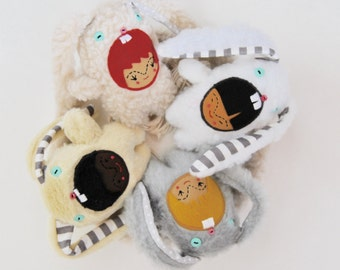 Multicultural Bunny Mobile ---  Made to Order ---Modern Nursery