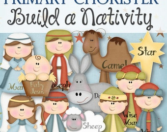 """Primary Chorister """"Build a Nativity"""" Game - INSTANT DOWNLOAD"""