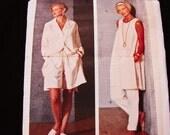 Vogue Vintage Designer Original Sewing Pattern By Betty Jackson, Pants Shorts Tunic Dress Shirt Wardrobe
