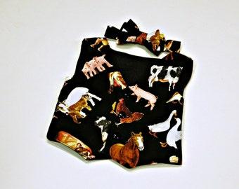 Farm Birthday Outfit - Cowboy Wedding - Boys Vest - Boys Bow Tie - Barnyard Birthday Outfit - Boys First Birthday - 6 mos to 8 yrs