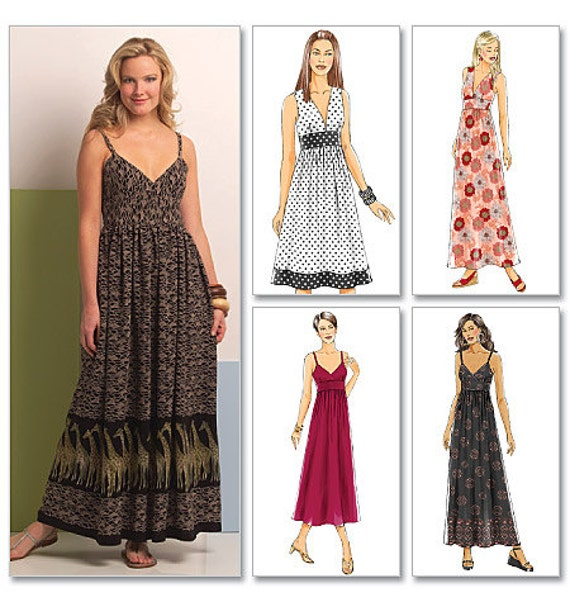 Easy Maxi Dress Sewing Pattern Butterick B5181 Long And
