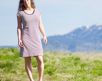 SALE - Organic Hemp Striped Nautical Dress - Eco Friendly & Organic Women's Clothing
