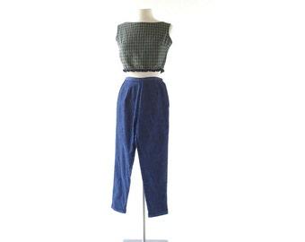 Vintage 1950s Jeans / Cigarette Pants / 50s Pants / 22-23W