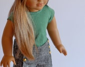 American Girl Doll Clothing, Summer doll outfit, AG Doll clothes, Doll headband, 18inch doll ensemble, Summer Shorts for American Girl