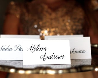 Wedding place cards, Escort cards, custom hand lettered calligraphy