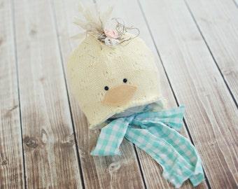 newborn duck hat // baby duck hat // photography prop // spring photo prop //duckie // summer hat // newborn photo prop // boy girl // RTS