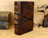 RESERVED. Brown Leather Journal, antiqued pages, The Traveler