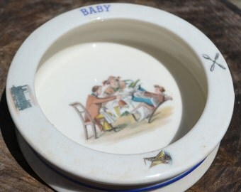 Baby Feeding Dish, Made in Czechoslovakia