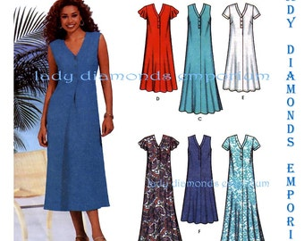 Simplicity 7217 Womens Pullover Flared Dress Tent Dress in 2 Lengths, sizes 8 10 12 14 Six Made Easy Sewing Pattern Uncut