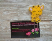 Felt Planner Clips - Golden Yellow, Light Brown, And Light Pink Giraffe Paper Clip Or Bookmark - Zoo Animal Accessories - Planner Goodies