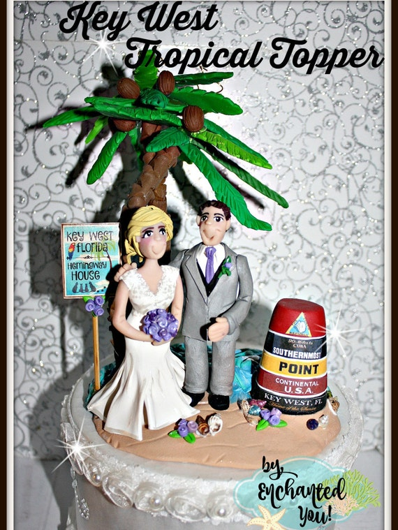 key west wedding cake toppers key west wedding cake topper tropical personalized 16637