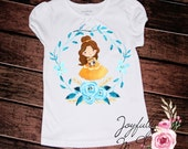 Belle Tee - Belle Outfit - Birthday Onesie - Princess Shirt - Belle Shirt - Newborn Bodysuit