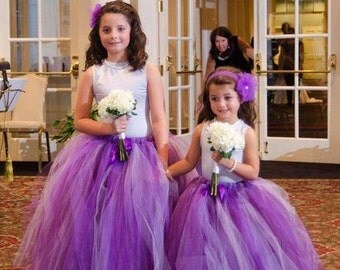 Purplelicious -  Custom Sewn Tulle Skirt in shades of purple - Purple Tutu - your choice of size and length - flower girls, parties, photos