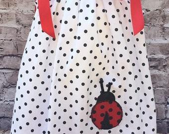 Lady Bug Pillowcase Dress