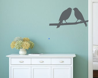 Birds on Branch Vinyl Wall Decal Sticker  DB116