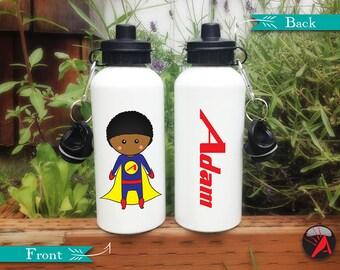 Superhero Water Bottle, Personalized Kids Gift, Christmas Gifts, Kids Water Bottle, Personalized Kids Gift, Superhero Birthday Party