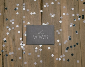 """LIMITED ADDITION - """"His Vows"""" - Foil Stamped Vow Holder"""