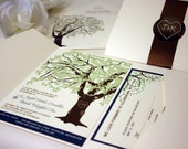 Reserved for Melanie Bobay, Balance of Oak Tree Invitations and Accessories