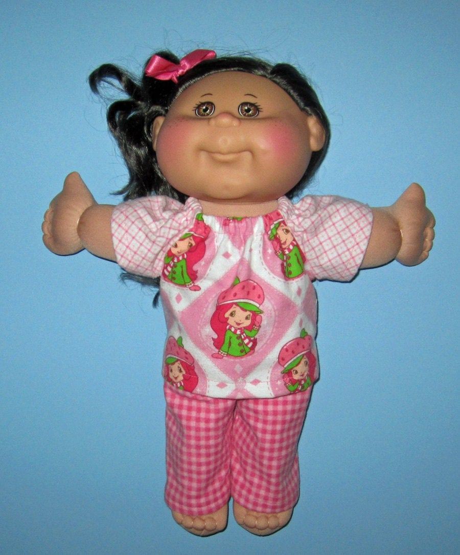 cabbage patch doll clothes pink strawberry shortcake