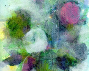"""Acrylic, Graphite and Watercolor Still Life Painting- """"Tell Us More"""" - 9"""" x 12"""" on Watercolor Paper"""