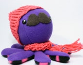 SALE Purple gentleman octopus plushie - 6""
