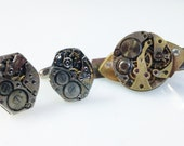 Steampunk Movement Cufflinks and Tie Clip