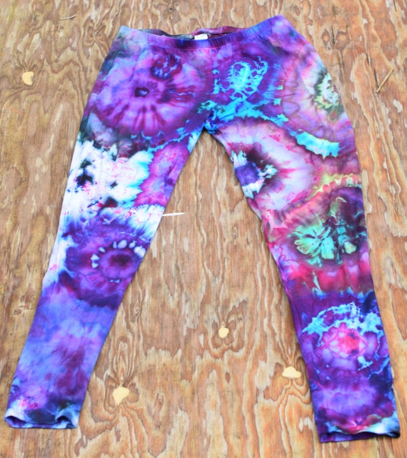 Amanda's Choice Ice Dye Leggings (Dharma Trading Co. Deluxe Cotton Leggings with Spandex Size S) (One of a Kind)