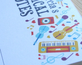 Personalized Musical Notes Notepad Music Teacher Gift Choir Director Gift Coworker Gift