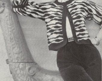 Zebra Jacket Vintage Crochet Pattern 174