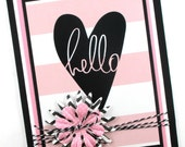 Hello greeting cards, thinking of you, just a note, cards for her, friendship cards
