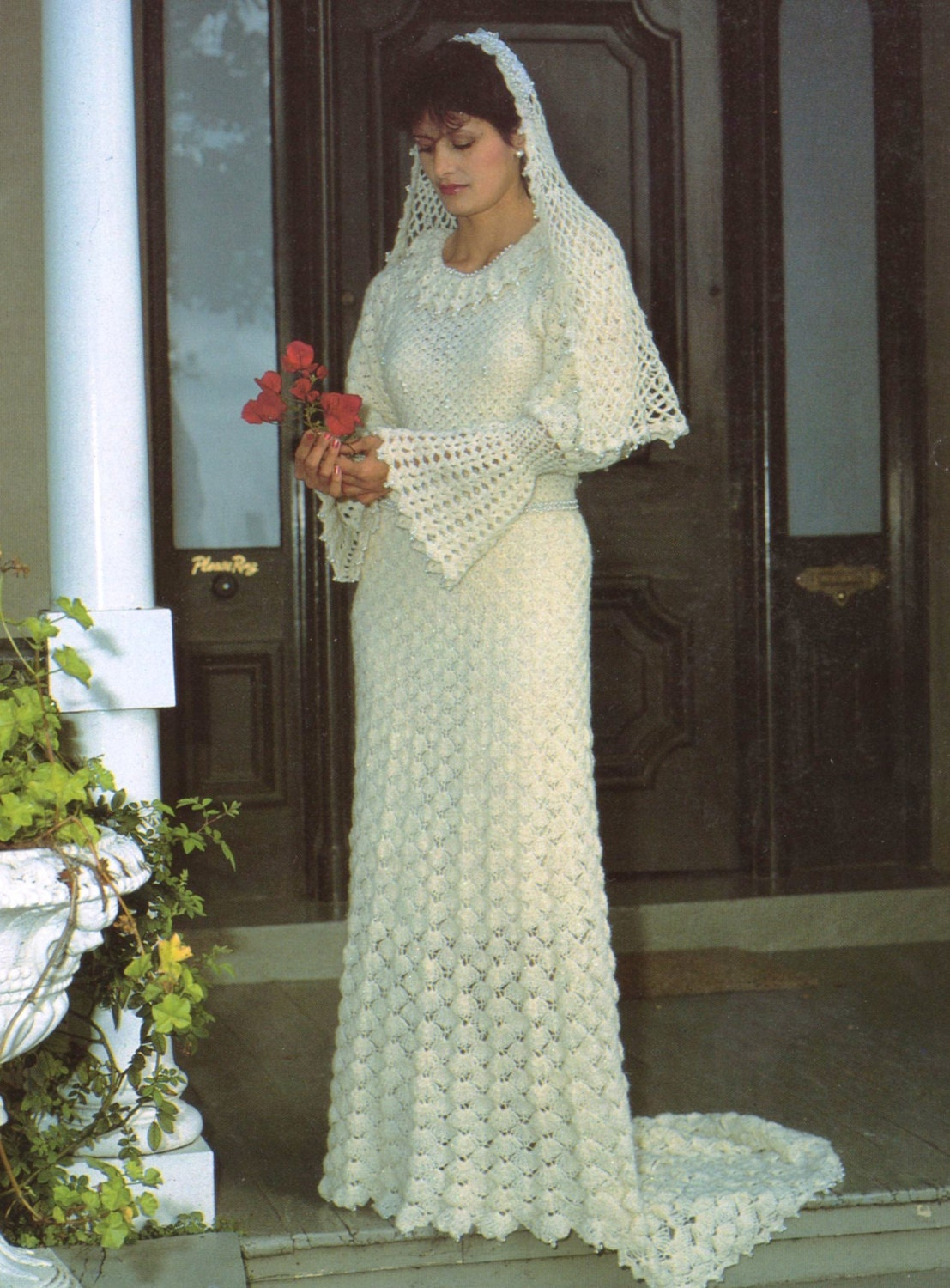 Pdf crochet pattern vintage womens crochet wedding dress this is a digital file junglespirit Images