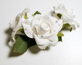 HAVOC Fleur - White Triple Roses