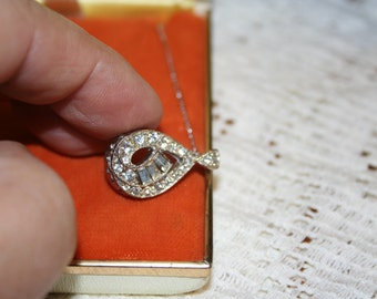 Necklace /CZ and Sterling Silver Chain