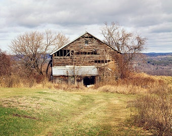 Brown Barn Photography, Barn Photograph, Rural Decay, Rustic Farmhouse Decor, Country Cottage, Abandoned, Barn Picture, Landscape Art
