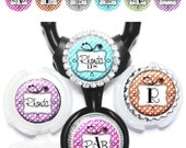 Doodle Frame Littmann Stethoscope Tag - Personalized Nurse Stethoscope ID in 6 Colors with Name, Monogram, Occupation Title (A317)