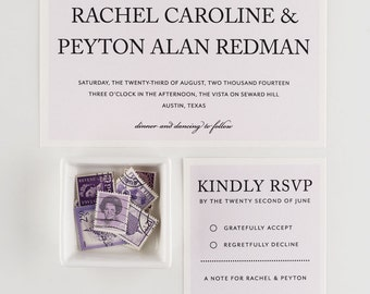 Wedding Invitation, Lavender Crush Wedding Collection