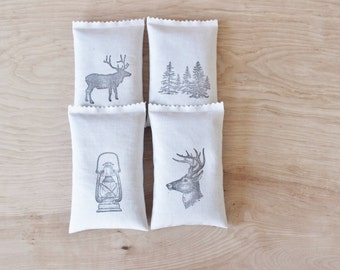 Forest Aroma Scented Sachets, Balsam Fir Woodland Decor, Holiday Hostess Gifts, Cabin Christmas Winter Wedding