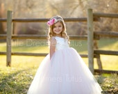 NEW! The Juliet Dress in Ivory/Pink- Flower Girl Tutu Dress