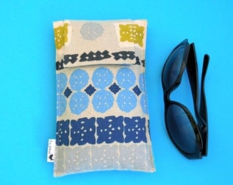 Roomy Sunglasses Case in an Abstract Design