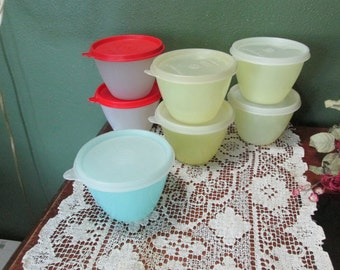 Tupperware Refrigerator Bowls Set of 7 Pastel