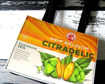 New Belgium Citradelic Beer Purse