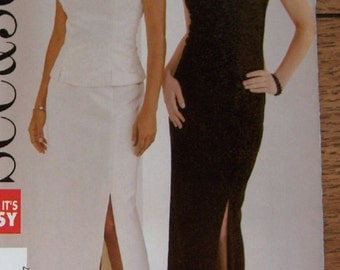 2005 butterick see and sew pattern 4426 misses evening special occasion top and skirt sz 18-22 uncut