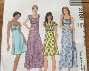1999 McCalls pattern 2189 misses dress sz 10-12-14 uncut