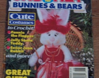 vintage 1994 crochet patterns costumes for bunnies and bears 14 designs