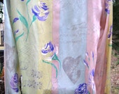 ESCADA HEARTS, MUSIC and Roses Silk blouse, size 34