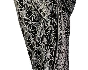 Beach Sarong Wrap Skirt Batik Pareo Womens Clothing Gingko Leaf Sarong Sarong Cover Up Beach Skirt - Hawaiian Sarong   - Beach Wrap Cover Up