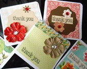 Thank You Vintage Floral Mini Cards (6 cards)